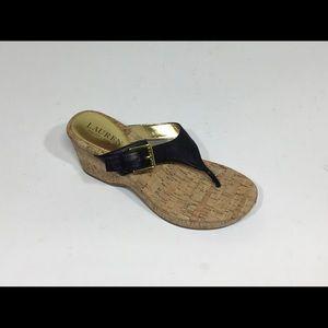 LAUREN Ralph Lauren Oralee Thong Leather Sandals